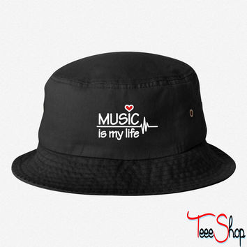 Music is my life 4 bucket hat
