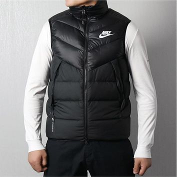 DCCK2 456 Nike Sports down vest leisure warmth upright collar waistcoat Red