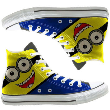 minion painted shoes, custom shoes by natalshoes