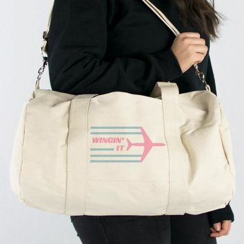 Wingin' It Canvas Duffle Bag