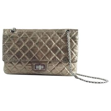 Chanel Pewter 2.55 Reissue 227 Double Flap Bag - 2006