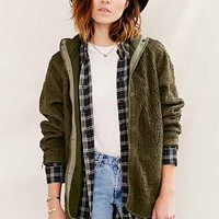 Urban Renewal Vintage Hooded French Liner Jacket- Green