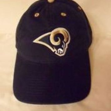 ESBON NFL St. Louis Rams Adjustable Logo Navy Hat