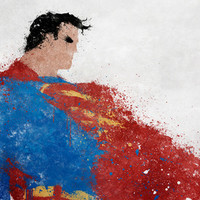 Superman Art Print by Melissa Smith
