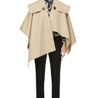 Burberry Prorsum Beige Open-front Trench Cape