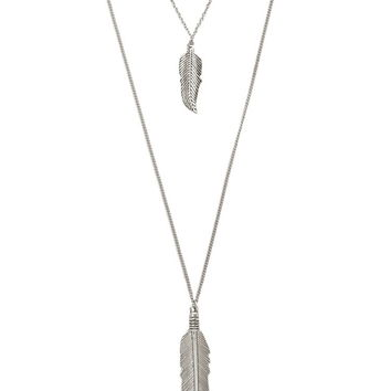 Feather Layered Necklace | Forever 21 - 1000187537