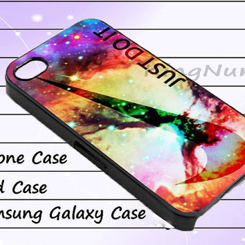 galaxy nebula just do it for iphone 4/4S, iPhone 5/5S/5C, Samsung Galaxy S3/S4, iPod Touch 4/5, htc Case