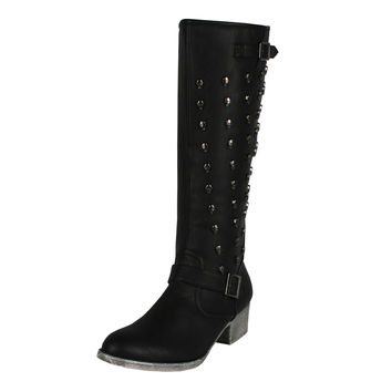 Poppy-02 Studded Boots