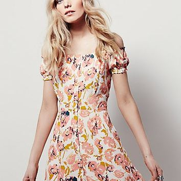 Free People Womens Italian Breeze Mini Dress