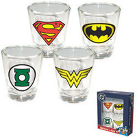 DC Comic Shot Glass Set