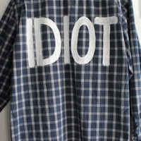 "5 Seconds of Summer 5SOS Michael Clifford Inspired ""IDIOT"" Plaid Shirt Mens XXL"