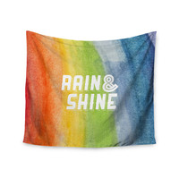 "KESS Original ""Rain & Shine"" Rainbow Abstract Wall Tapestry"
