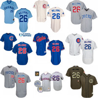 2016 World Series Champions Patch Billy Williams baseball Jersey , Men's #26 Mitchell And Ness Chicago Cubs Turn Back The Clock stitched
