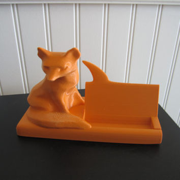 3d Printed Fox Business Card Holder Desk 3d Print Geek Gift 3d printing 3-d art modern office accessories organizer holder animal