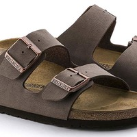 Birkenstock Arizona Mocha Birko-Flor 'Narrow Fit' Women's Sandals (Narrow Width, 5-5.5 US Women - 36 N EU)
