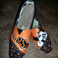This is an order for one pair of hand painted TOMS Classic shoes with OSU Cowboys and leopard design.