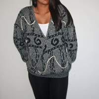 Aztec overized cross Sweater