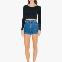 High-Waist Jean Cuff Short | American Apparel