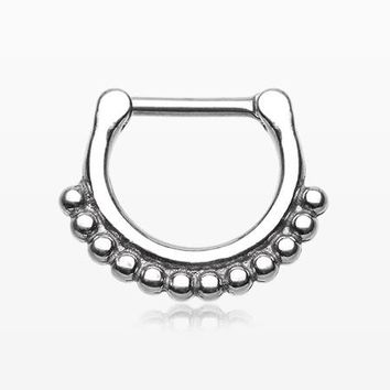 Classic Bali Tribal Beads Septum Clicker