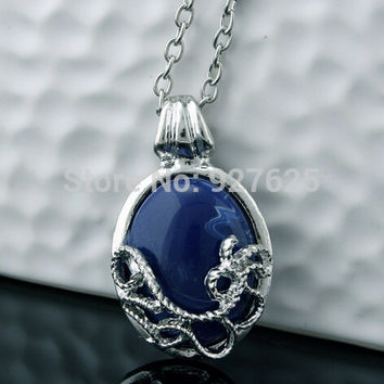Free Shipping Vampire diaries katherine cate stone necklace natural anti-sun silvered opal #3039 P1