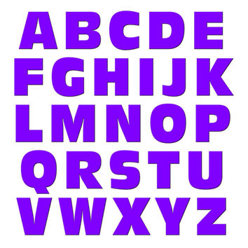 Alphabet Letters Uppercase Purple MAG-NEATO'S TM Refrigerator Magnet Set