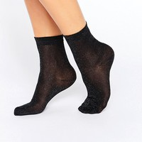 Monki Sheer Glitter Sock