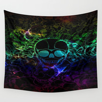 COLORFUL SKULL Wall Tapestry by Acus