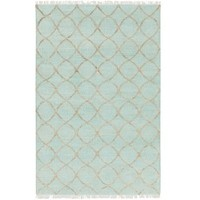 Cay Mint Green Natural Jute Rug