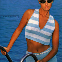 Pingouin Summer Fashion No 69 37 Patterns to Knit Beach Sweaters Pullovers Nautical