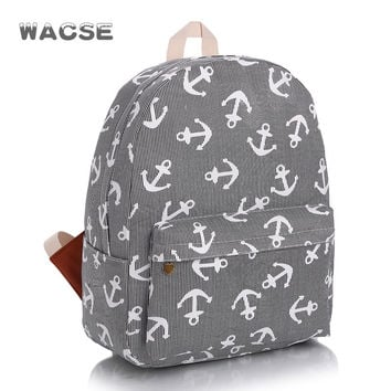 Canvas Fashion Army Style Sea Casual Stylish Travel Navy Backpack = 4887461636