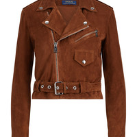 Polo Ralph Lauren Suede Moto Jacket - Jackets - Women - Macy's