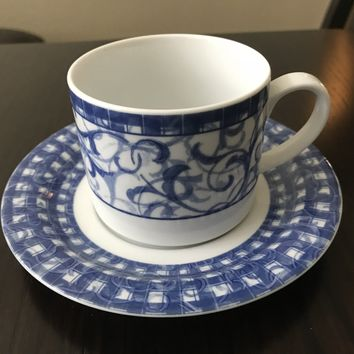 Oneida Blue Heather Cup and Saucer