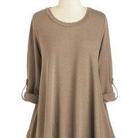 ModCloth Mid-length 3 I've Got You Beige Sweater