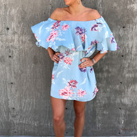 Basia Off The Shoulder Floral Dress