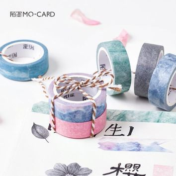 Natural Color Japanese Paper Washi Tape Cute Post It Adhesive Tape Diary Scrapbooking Decoration Label Sticker Masking Tapes
