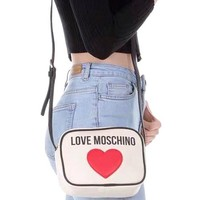 Free shipping-Moschino simple love women's shoulder bag white