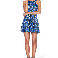 Tardis Stencil Reversible Skater Dress