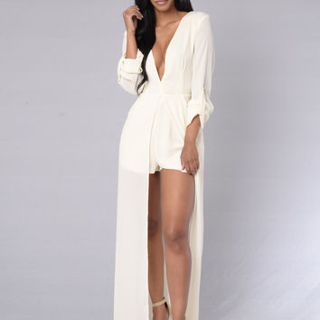 Stand Out Romper - Ivory