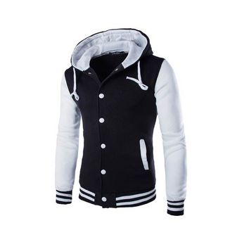 Trendy Mens Hoodie Baseball Jacket Men 2018 Fashion Design Black Mens Slim Fit Varsity Jacket Brand Stylish College Jacekt Veste Homme AT_94_13