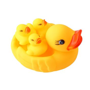 Yellow Rubber Ducks Baby Bath Toy (4 Pcs)