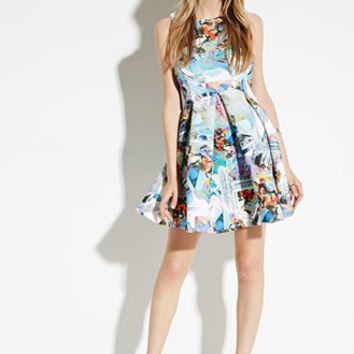 Jaded London Crystal Skater Dress