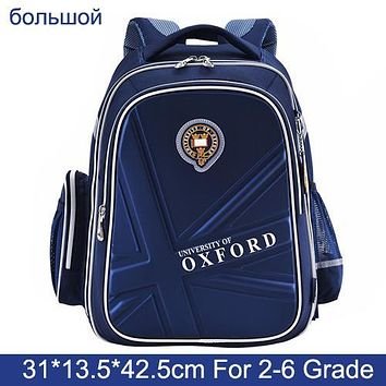 University Of OXFORD cartoon children/kid elementary school bag books shoulder school bag for boys girls grade 1-3-4-6