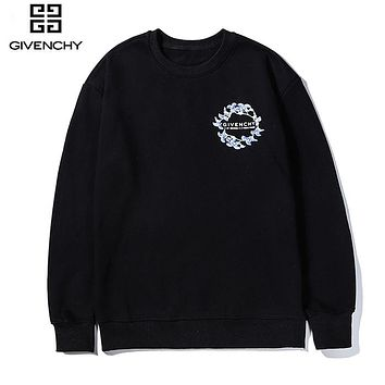 Givenchy hot seller of casual couple hoodies with fashionable little prints Black