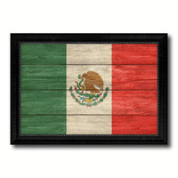 Mexico Country Flag Texture Canvas Print with Black Picture Frame Home Decor Wall Art Decoration Collection Gift Ideas
