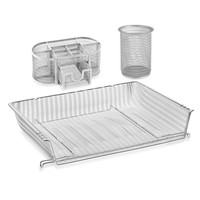 Mesh Desk Organization Set in White