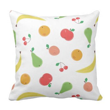 Delicious Fruit Pattern Throw Pillow