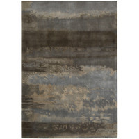 Luster Wash Chrome Wash Slate Rug by Calvin Klein