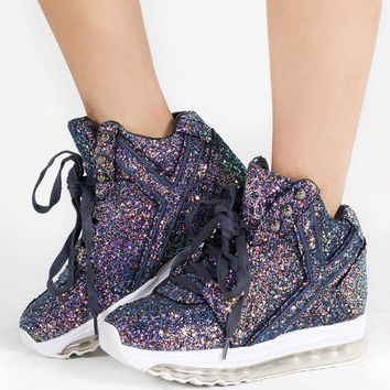Y.R.U. Qozmo Aiire Purple Glitter Light-Up Sneaker shoe's