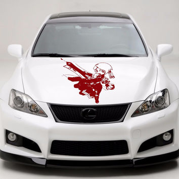 Anime Car Decal, Car Sticker Vinyl  Anime Sticker, Girl and gun anime 10269-2