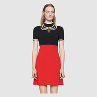 Gucci Embroidered jersey dress